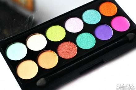 Палетка теней Sleek MakeUp Eyeshadow Palette I-Divine 12 тонов Snapshots: фото