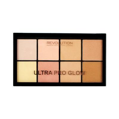 Палетка хайлайтеров Ultra Pro Glow MakeUp Revolution: фото