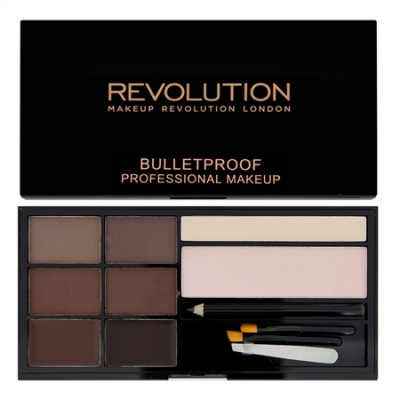 Палетка теней для бровей MakeUp Revolution Ultra Brow Palette MediumtoDark: фото