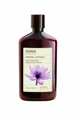 Бархатистое жидкое крем-мыло лотос и каштан Ahava Mineral Botanic 500 мл: фото