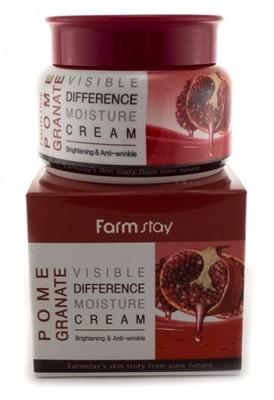 Крем увлажняющий с экстрактом граната FARMSTAY Visible differerce moisture cream granate 100г: фото