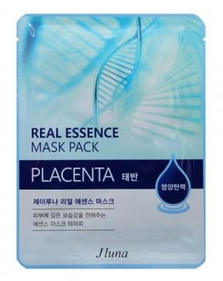 Тканевая маска с плацентой JUNO Real essence mask pack placenta 25 мл: фото