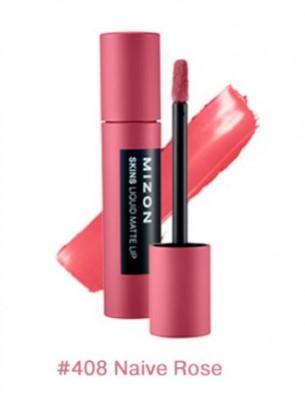 Помада матовая жидкая MIZON Skins Liquid Matte Lip №408 Naive Rose: фото