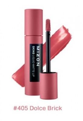 Помада матовая жидкая MIZON Skins Liquid Matte Lip №405 Dolce Brick: фото