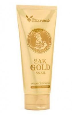 Пенка для умывания с золотом и муцином улитки ELIZAVECCA 24K Gold Snail Cleansing Foam: фото