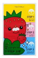 Трехступенчатая очищающая маска для носа TONY MOLY Runaway strawberry seeds 3-step nose pack: фото