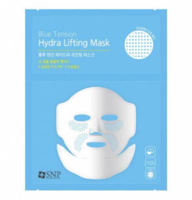 Маска для лица с эффектом лифтинга SNP Blue tension hydra lifting mask: фото