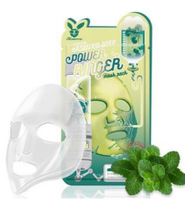 Маска тканевая с чайным деревом ELIZAVECCA Tea tree deep power ringer mask pack 23 мл: фото