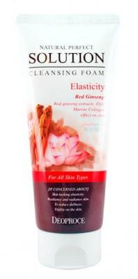 Пенка для умывания с женьшенем и лотосом Natural perfect solution cleansing foam energy 170г: фото
