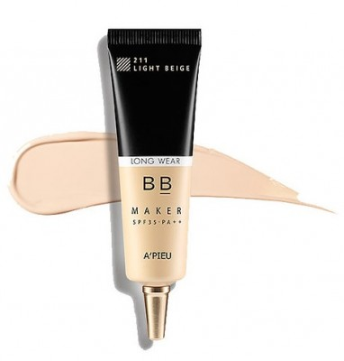 BB-крем стойкий A'PIEU BB Maker Long Wear SPF30/PA++ №21 Light beige Светлый беж 20г: фото