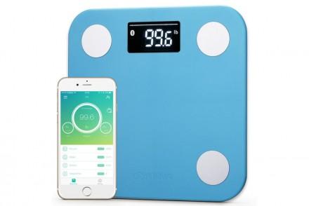Умные весы YUNMAI mini, голубые: фото