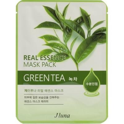 Тканевая маска с зеленым чаем Juno Real Essense Mask Pack Green Tea 25мл: фото