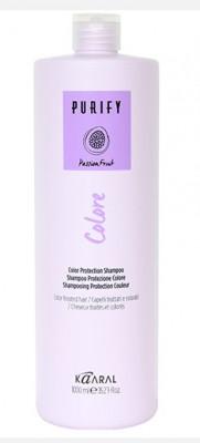 Шампунь для окрашенных волос на основе фруктовых кислот ежевики Kaaral Purify-Colore Shampoo 1000мл: фото