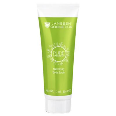 Скраб для тела тонизирующий с экстрактом белого чая Janssen Cosmetics PURE HARMONY Well Being Body Scrub 50мл: фото