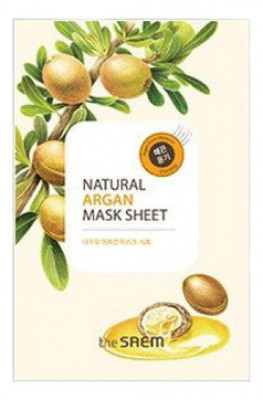Маска тканевая с экстрактом арганы THE SAEM Natural Argan Mask Sheet 21мл: фото