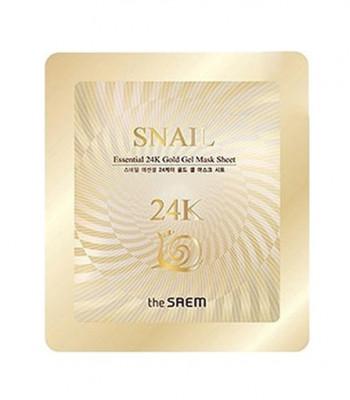Маска для лица улиточная гелевая THE SAEM Snail Essential 24K Gold Gel Mask Sheet 30г: фото