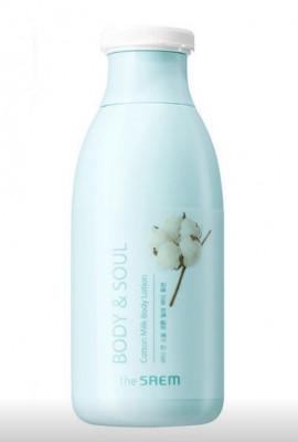 Лосьон для тела молочный THE SAEM BODY&SOUL Cotton Milk Body Lotion 300мл: фото