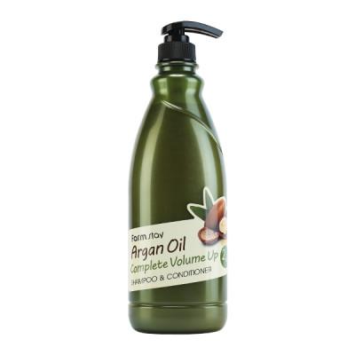 Шампунь-кондиционер с aргановым маслом FarmStay Argan Oil Complete Volume Up Shampoo & Conditioner 1000 мл: фото