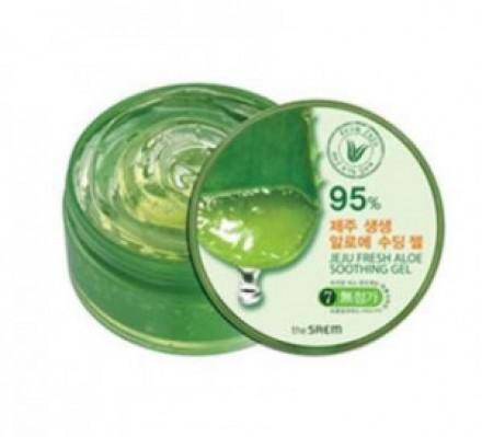 Гель с алоэ универсальный увлажняющий THE SAEM Jeju Fresh Aloe Soothing Gel 95% 300мл: фото