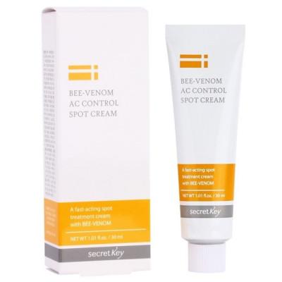 Крем для проблемной кожи с пчелиным ядом SECRET KEY Bee Venom AC Control Spot Cream 30мл: фото