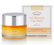 Маска для губ с витамином Е и маслом облепихи PETITFEE Oil Blossom Lip Mask Sea Buckthorn oil: фото