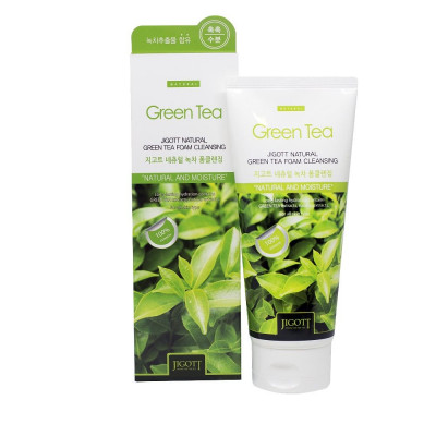 Пенка для умывания с экстрактом зеленого чая JIGOTT Natural Green Tea Foam Cleansing: фото