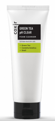 Пенка для умывания с зеленым чаем COXIR Greentea pH Clear Cleanser 150мл: фото