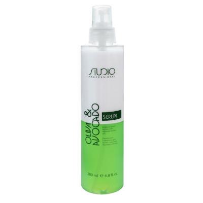 Сыворотка двухфазная для волос с маслами Авокадо и Оливы Kapous Studio Oliva & Avocado Serum 200 мл: фото