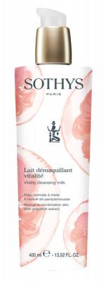 Молочко очищающее для нормальной и комбинированной кожи с экстрактом грейпфрута Sothys Vitality Milk 400 мл: фото