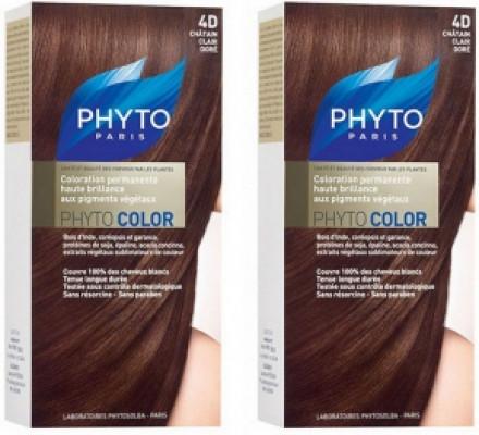 Краска для волос Phytosolba PhytoCOLOR №4D Светлый Золотистый шатен СДВОЙКА: фото