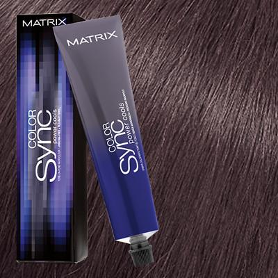 Краска для волос без аммиака Matrix Color Sync POWER COOLS 7VA Блондин пепельно-фиолетовый 90мл: фото