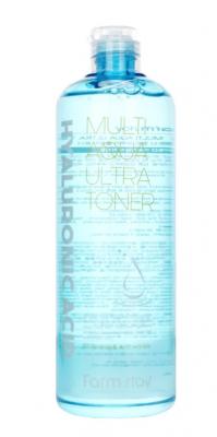 Тонер увлажняющий с гиалуроновой кислотой FarmStay Hyaluronic Acid Multi Aqua Ultra Toner 500 мл: фото
