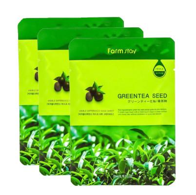 Маска с экстрактом семян зеленого чая FarmStay Green Tea Seed Visible Difference Mask Sheet 23мл*3 шт: фото