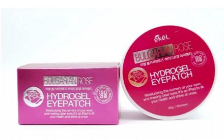 Патчи для глаз с экстрактом болгарской розы Ekel Eye Patch Bulgarian Rose 60 шт: фото