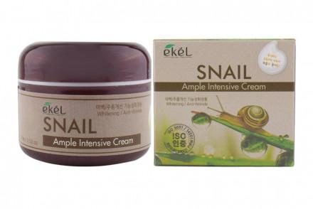 Ампульный крем с улиточным муцином Ekel Ample Intensive Cream Snail 100г: фото