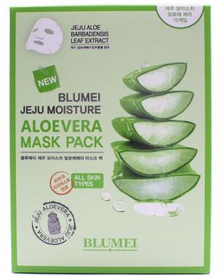 Тканевая маска для лица с Алоэ Blumei Jeju Moisture Aloe Mask 23 г*10 шт: фото