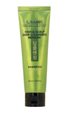 Шампунь для глубокого очищения волос и кожи головы L.SANIC HAIR & SCALP DEEP CLEANSING REFRESH SHAMPOO 120мл: фото