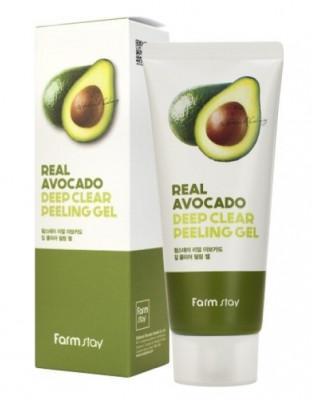 Гель отшелушивающий с экстрактом авокадо FarmStay Real Avocado Deep Clear Peeling Gel 100мл: фото