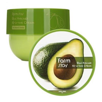 Антивозрастной крем с экстрактом авокадо FarmStay REAL AVOCADO ALL-IN-ONE CREAM 300мл: фото